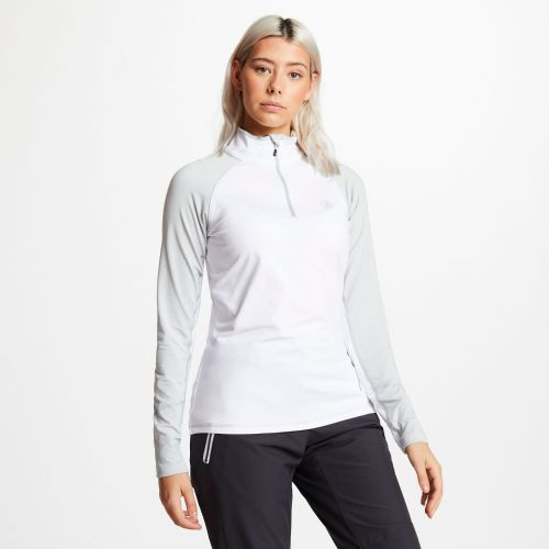 Women's Involved Core Stretch Half Zip Midlayer - White Argent Grey